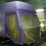 Подготовка к покраске этой кабины