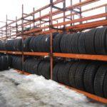 Склад - новые шины для грузовиков