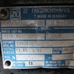 Бирка КПП zf16s221 с передаточным 0.84