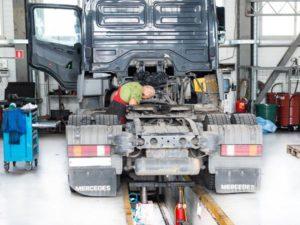 Ремонт ходовой части грузовиков Mercedes